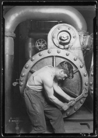 Mechanic At Steam Pump