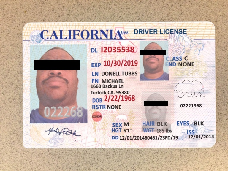 forged US-drivers license