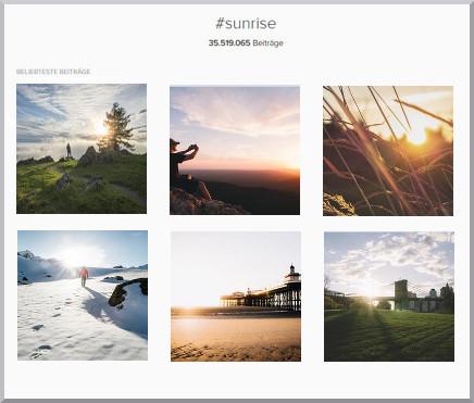 Sunrise-Hashtag