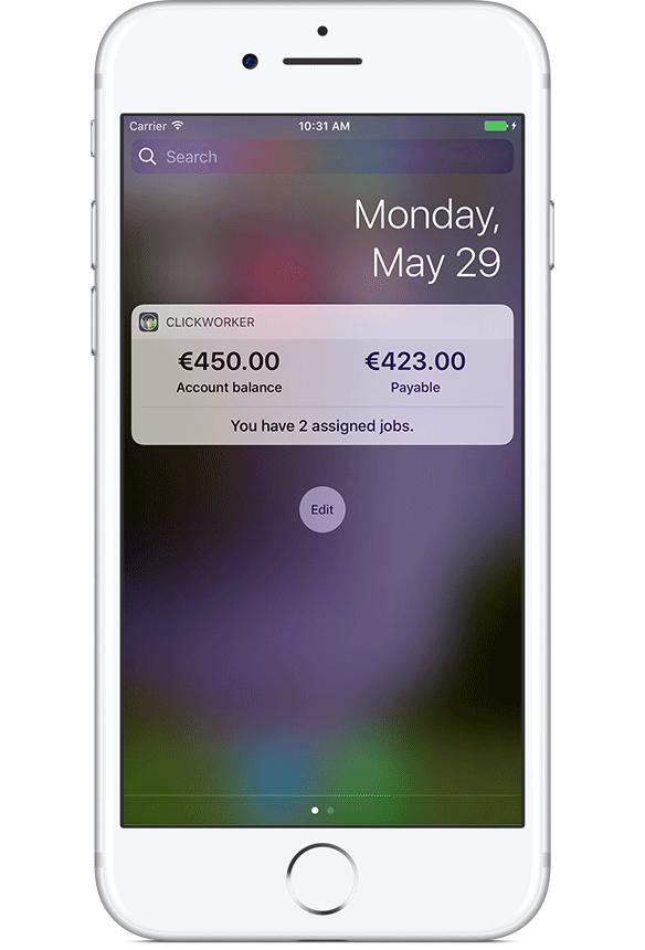 Clickworker App widget