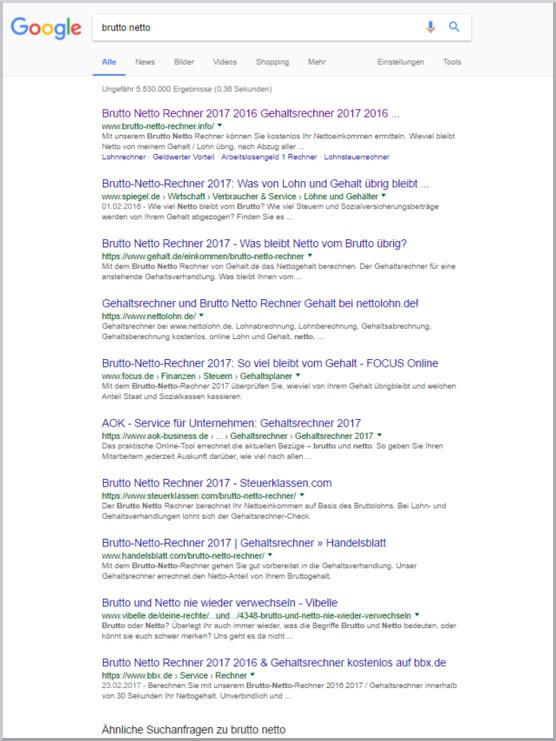 SEO Content Googlesuche