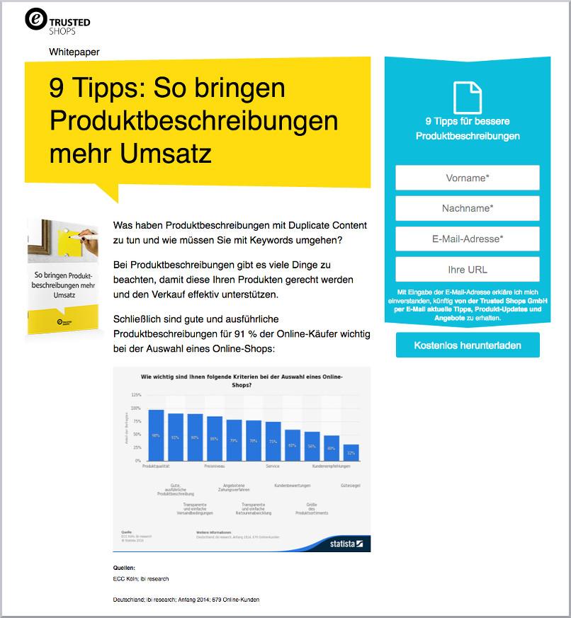 Whitepaper Tipps zur Erstellung von Produktbeschreibungen