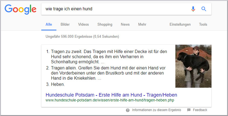 Featured Snippet Bild