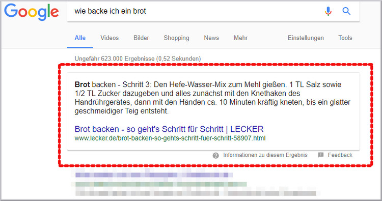 Featured Snippet Rezept