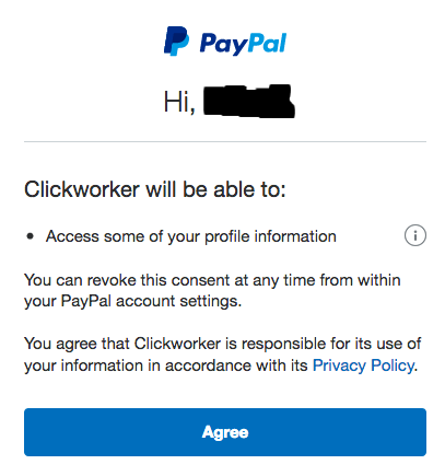 PayPal validation button 2