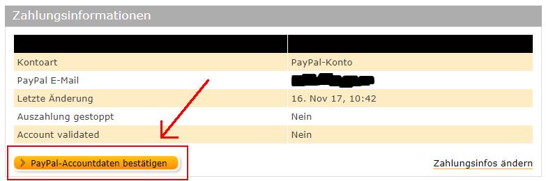 Paypal Bankkonto