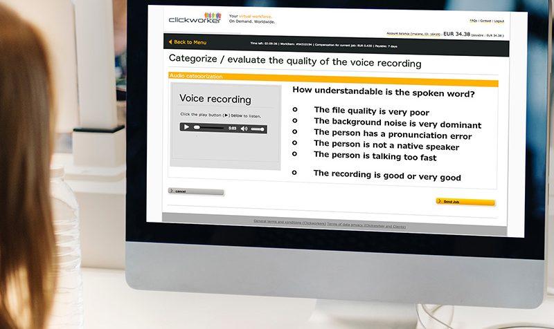 Classification of Audio Data Sets