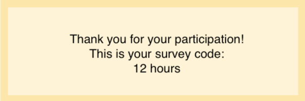 content related survey codes