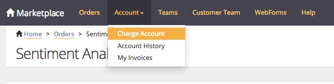 Charge Account