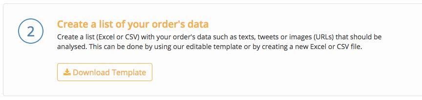 2) Create a list of your order's data