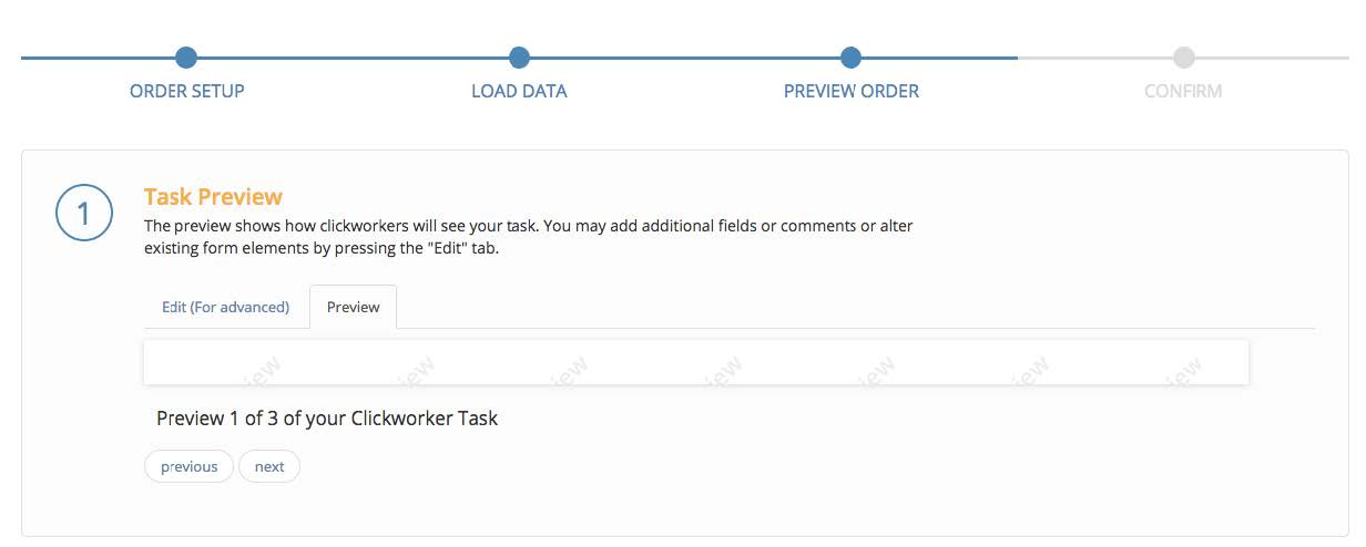 1) Task Preview